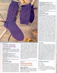 Pletené ponožky s lístovým vzorem Patterned Socks, Mitten Gloves, Knitting Socks, Sock Shoes, Knit Patterns, Leg Warmers, Knitwear, Knit Crochet, Blog