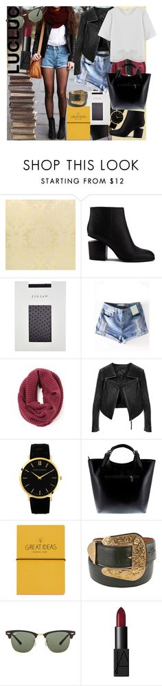 """Said who?"" by meliki ❤ liked on Polyvore featuring Alexander Wang, Jigsaw, Linea Pelle, Larsson & Jennings, Massimo Castelli, Topshop, Ray-Ban, NARS Cosmetics, Hipster and casualoutfit"