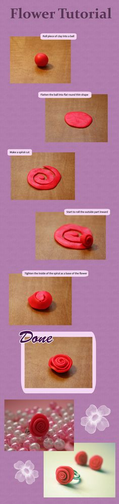 Flower Tutorial - would also work with fabric  ~ Polymer Clay Flowers