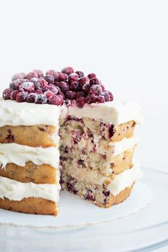Cranberry Orange Layer Cake with Orange Cream Cheese Frosting and Sugared Cranberries: http://www.mgram.com/2015/11/07/the-sweetest-cake-by-a-side-of-sweet/?utm_campaign=coschedule&utm_source=pinterest&utm_medium=Marie%20Asselin