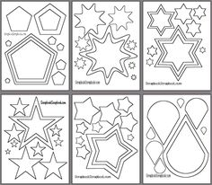 Cookie Cutter Idea Printable Basic Shapes Templates For Scrapbook Pages Patterns Cutting Diecuts Cropping Photos