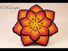 Macrame mandala flower - YouTube