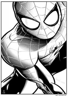 Free Coloring Pages, Coloring Books, Spiderman Coloring, I Icon, Amazing Spider, Tattoos For Guys, Batman, Superhero, Anime