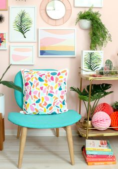 DIY Colorful Terrazzo Throw Pillow - A Kailo Chic Life