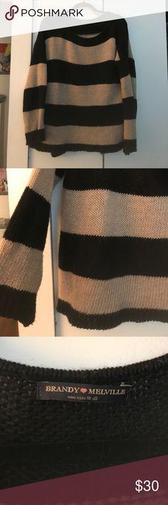 Brandy Melville chunky striped sweater Brandy Melville chunky striped sweater  one size Brandy Melville Sweaters
