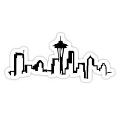 SEATTLE SKYLINE, GREYS ANATOMY STYLE • Also buy this artwork on stickers, apparel, phone cases, and more.