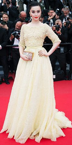 Fan Bingbing in Elie Saab Haute Couture S/S 2013 at the Cannes Film Festival in France, May 2013