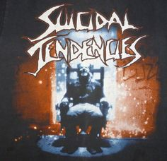 Suicidal Tendencies concert t shirt from the 1990 You Can't Bring Me Down tour. Original vintage t shirt. Used vintage in great condition with medium wear. Some dark marks that are hard to see in normal lighting -see pictures.Tag- Hanes Made In USAL 42-44100% CottonINV