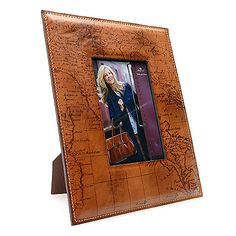 """724-865 - Patricia Nash """"Amalia"""" 11"""" x 9"""" Painted Leather Map of Italy Picture…"""
