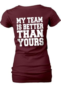 Texas A & M Aggies Womens Red My Team V-Neck T-Shirt