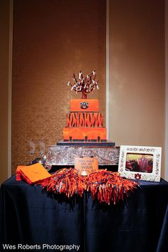 A Guests Groom's Cake! War Eagle!    www.auhcc.com/plan/weddings  I Photography by Wes Roberts #HotelatAuburn