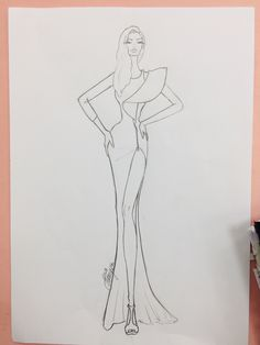 Dress Design Drawing, Dress Design Sketches, Fashion Design Sketchbook, Fashion Design Drawings, Fashion Design Portfolio, Fashion Figure Drawing, Fashion Model Drawing, Fashion Drawing Dresses, Fashion Illustration Dresses