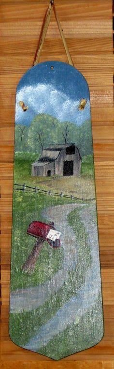Barn Mailbox Handpainted Fan Blade by KathysKountry on Etsy