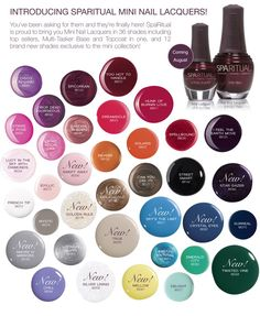 Mini Laquers SpaRitual - most excellent vegan nail polish. It will NOT turn your nails yellow.