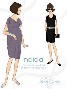 Maternity dress pattern: Naida maternity & von louloujamescreative