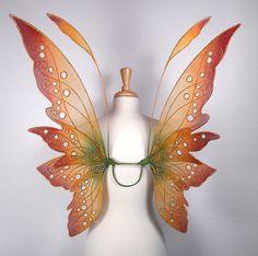 Fairy wings - Terrific for fairy costume, Halloween costume, fairy photography - Autmn fairy wings- Handmade  - Dana Design