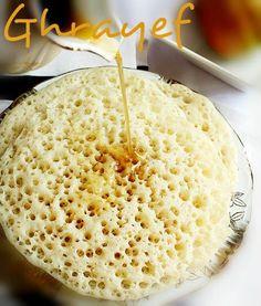 Mangez tunisien: Ghrayef tunisienne (crêpes à trous)