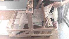 How to warp a 4 shaft loom - YouTube