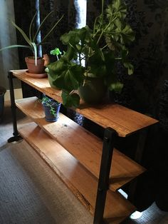 Three tier plant stand made from white oak, finished with natural oils. wide x tall x deep Unique Furniture, White Oak, Natural Oils, It Is Finished, Deep, Plants, Design, Plant