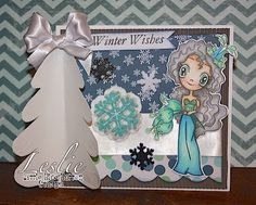 Little Blue Button Stamps: Crafty Monday: Flora Button from Leslie