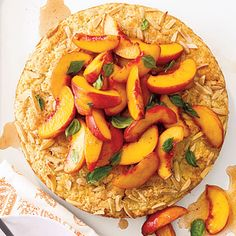 Favorite summer flavors combine for Peach and Basil Shortcake--a real peach of a dessert!