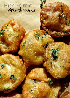 Fried Shiitake Mushrooms- the most delicious and easy appetizer ever!