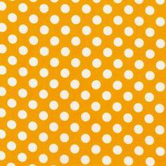 COTTON FABRIC Yellow Spot On - by Robert Kaufman by BirdyandBlue on Etsy