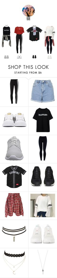 """""""audition for mj ent. –– 여덟시"""" by eight-o-eight-official ❤ liked on Polyvore featuring Y-3, Topshop, adidas Originals, NIKE, adidas, R13, Charlotte Russe, Marc Jacobs, Roberto Coin and mjrecruitment"""