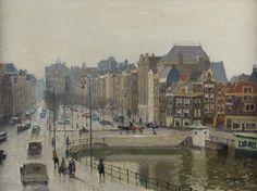 Sight on the Rokin, Amsterdam, Gerbrand Frederik van Schagen. Dutch (1880 - 1968)