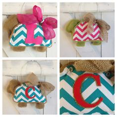 Burlap Door Hanger with Chevron Turtle by EverTwoClever on Etsy, $20.00