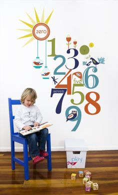 Almond Tree Designs – Numbers Wall Decal • See more at The Big Design Market on 7/8/9 December 2012 – Royal Exhibition Building, ...