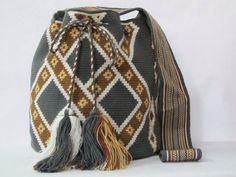 Grey neutral wayuu mochila bag by PavanaFit on Etsy
