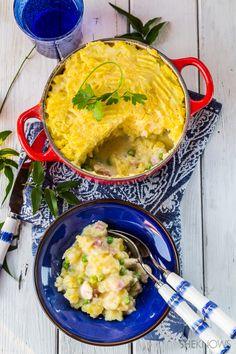 Chicken, bacon and potato casserole