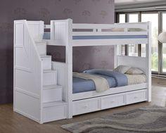 Etagenbett Mit Schubladen Treppe : Nutzen sie den raum der unten twin size etagenbetten babyzimmer