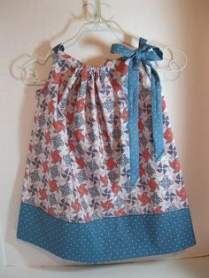 Toddlers Girls Pillowcase Dress Size 6 mt by AlwaysALittleBehind, $20.00