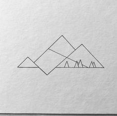 Minimalist Mountain lake… Where is your favourite place? Have a great Week! … Minimalist Mountain lake… Where is your favourite place? Have a great Week! Mountain Sketch, Mountain Drawing, Mountain Art, Geometric Mountain Tattoo, Tattoo Mountain, Simple Mountain Tattoo, Minimalist Drawing, Minimalist Art, Montain Tattoo