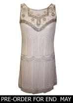Great Gatsby Fashion Deco Sequin Shift Pink