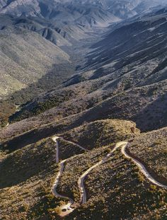 Karoo — Obie Oberholzer - road to Die Hel - Gamkaskloof - Swartberg Mountains (Black Mountain) Beautiful Roads, Beautiful Places, Long Way Home, Black Mountain, Nature Reserve, Natural Wonders, Homeland, Geology, Outdoor Activities