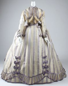Dress Depret (French) Date: 1867–69 Culture: French Medium: piña cloth, silk