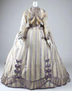 Dress Depret (French) Date: 1867–69 Culture: French Medium: piña cloth, silk