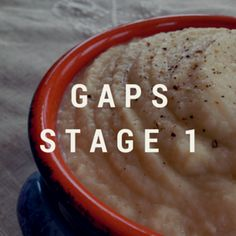 GAPS Intro Recipes by stages
