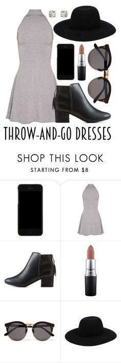 """""""dolled up"""" by ali-sxn ❤ liked on Polyvore featuring Dolce&Gabbana, City Classified, MAC Cosmetics, Illesteva, Off-White, cute, contest, tumblr and easydresses"""