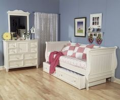 Legacy Summer Breeze cottage white daybed with trundle Bedroom Sets, Girls Bedroom, Bedrooms, White Daybed With Trundle, Trundle Beds, Toddler Day Bed, Kids Daybed, Cool Bunk Beds, Childrens Beds