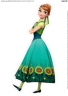 Anna from Frozen Frozen Fever Party, Frozen Birthday Party, Baby Girl Birthday Theme, Disney Frozen Party, Disney Princess Birthday, Frozen Princess, Frozen Theme, Ana Frozen, Princess Cake Toppers