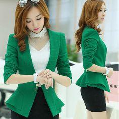 81cadad8a Women OL Work Office Formal Long Sleeve Slim Blazer Suit Jacket Coat  Outwear Top