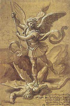 Michele (Chi è come Dio?) è l'arcangelo che insorge contro Satana e i suoi satelliti (Gd 9; Ap 12, 7; cfr Zc 13, 1-2), difensore degli amici di Dio (Dn 10, 13.21), pretettore del suo .popolo (Dn 12, 1)
