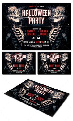 Halloween Party Flyer Template PSD #design Download: http://graphicriver.net/item/halloween-party-flyer/9091546?ref=ksioks
