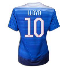 2015 FIFA Women's World Cup USA Carli Lloyd 10 Women Away Soccer Jersey