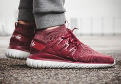 #sneakers #news  Red Primeknit Appears On The adidas Tubular Nova