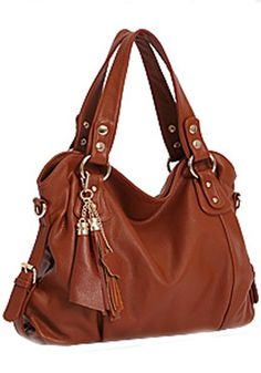 ORDERED ON AUG. 20th 45$ (-10$ with code) Brown Cotton Lining PU Leather Tote Bag